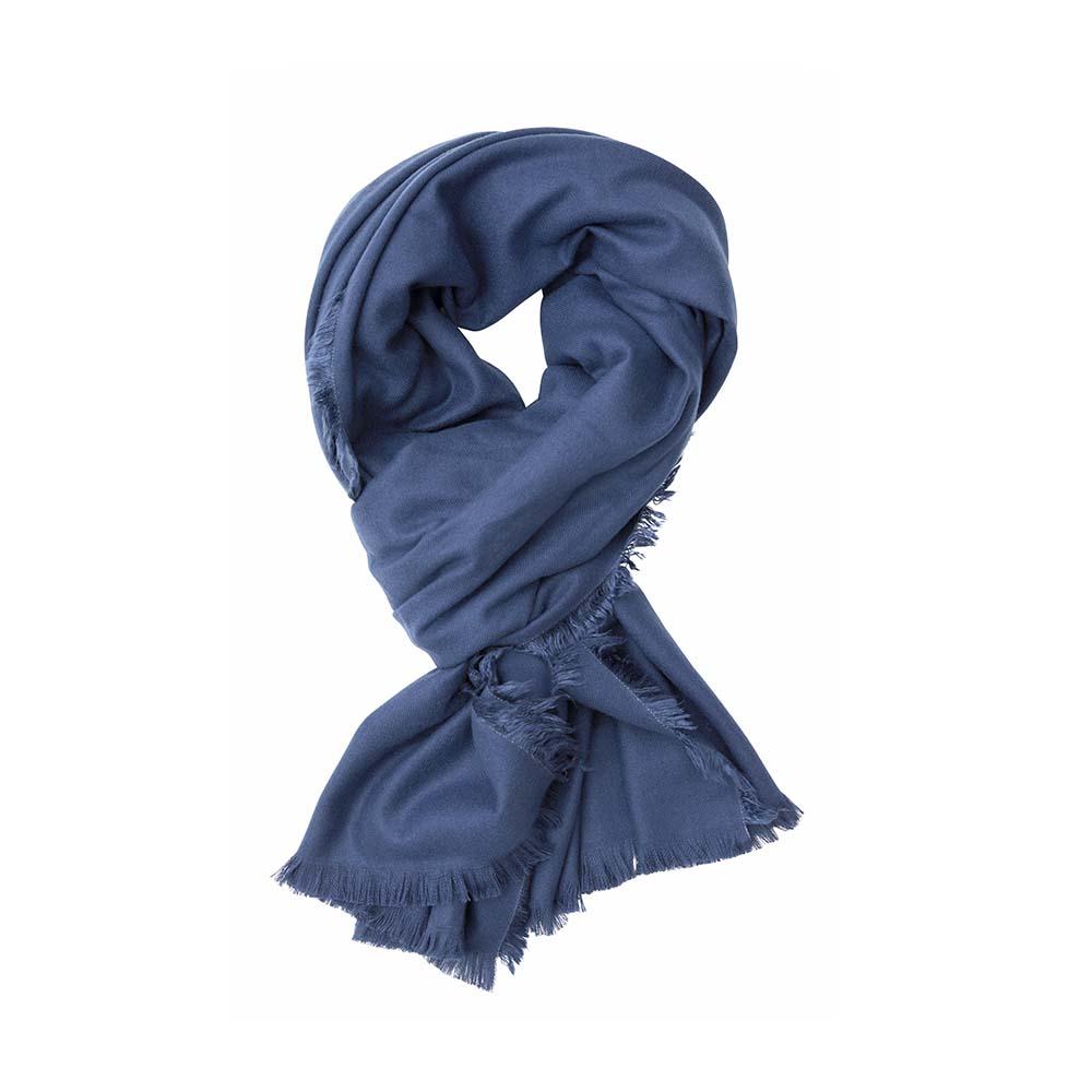 Палантин синий(6C452)Шарфы, платки, палантины из Дании, Dansk Smykkekunst<br>65 % вискоза 35 % кашемир<br>75 x 190 cm<br>