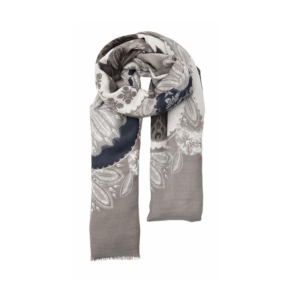 Палантин хаки(6C417)Шарфы, платки, палантины из Дании, Dansk Smykkekunst<br>80 % viscose 20 % cotton<br>135 x 140 cm<br>