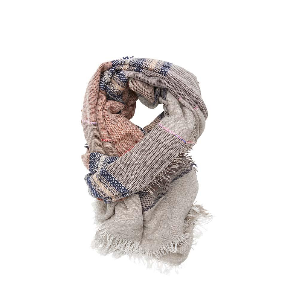 Палантин песочный(6C459)Шарфы, платки, палантины из Дании, Dansk Smykkekunst<br>50 % cotton 50 % acrylic<br>80 x 200 cm<br>