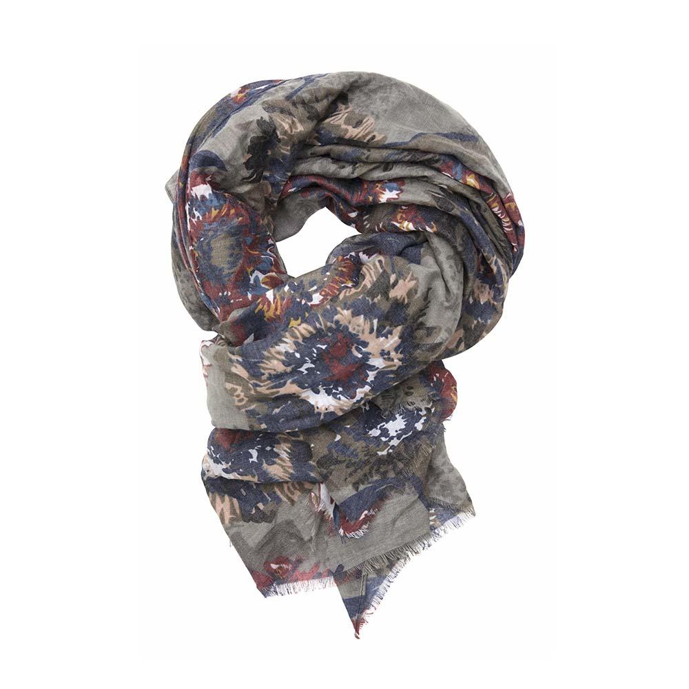 Палантин серый(6C413)Шарфы, платки, палантины из Дании, Dansk Smykkekunst<br>50 % cotton 50 % viscose<br>90 x 180 cm<br>