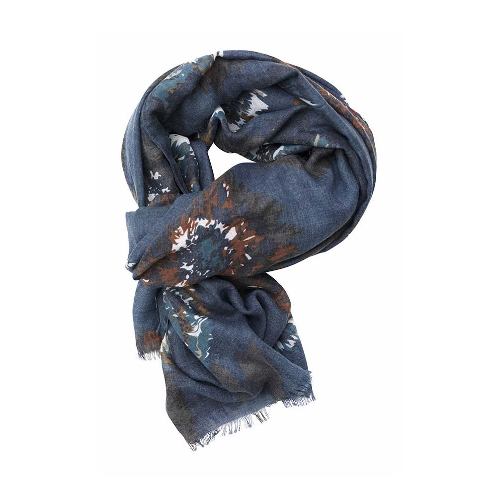 Палантин голубой(6C414)Шарфы, платки, палантины из Дании, Dansk Smykkekunst<br>50 % cotton 50 % viscose<br>90 x 180 cm<br>