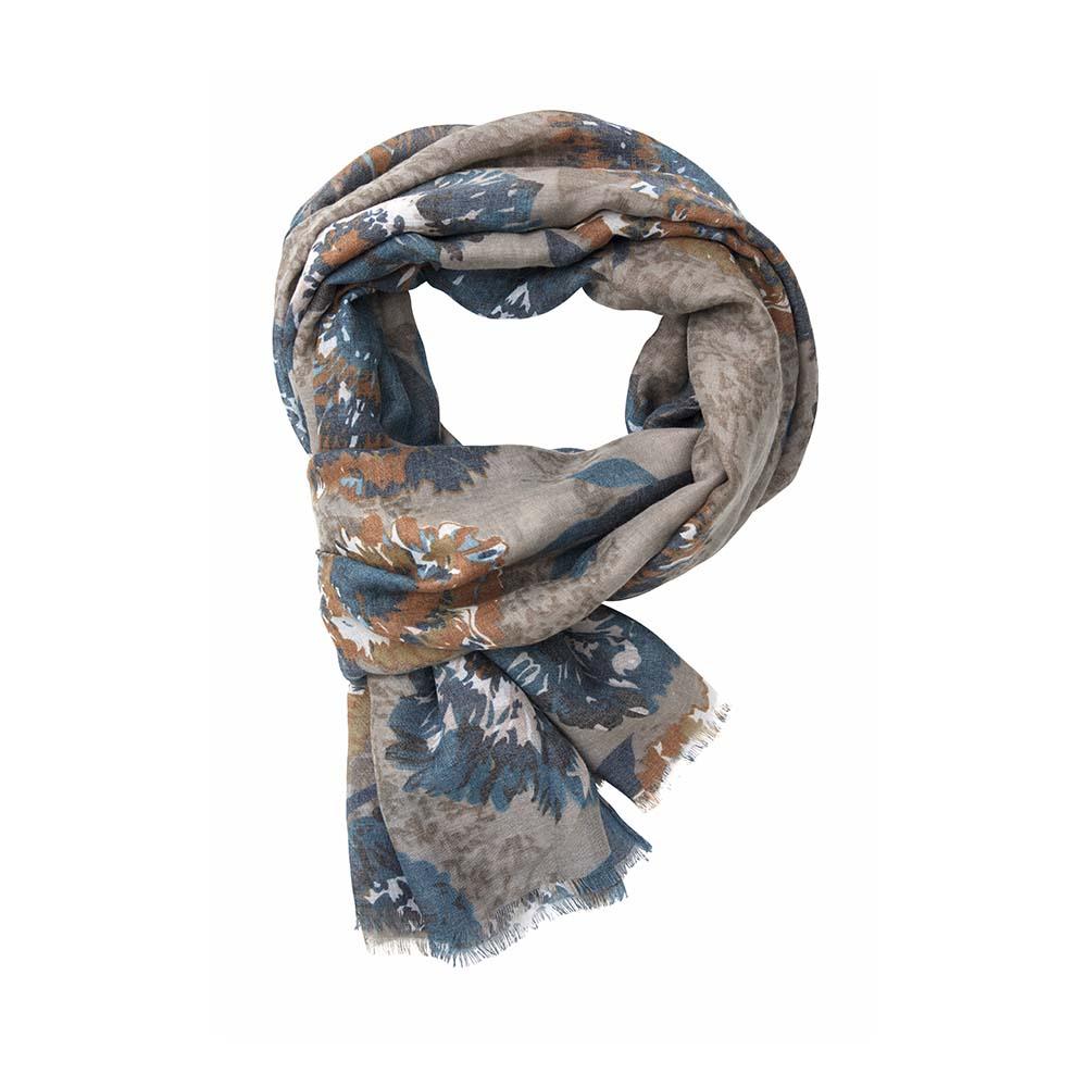Палантин хаки(6C415)Шарфы, платки, палантины из Дании, Dansk Smykkekunst<br>50 % cotton 50 % viscose<br>90 x 180 cm<br>