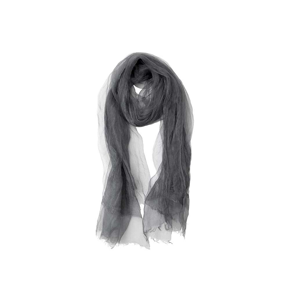 Палантин серый(6C450)Шарфы, платки, палантины из Дании, Dansk Smykkekunst<br>60 % cotton 40 % silk<br>70 x 190 cm<br>