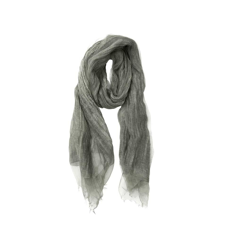 Палантин зеленый(6C445)Шарфы, платки, палантины из Дании, Dansk Smykkekunst<br>60 % cotton 40 % silk<br>70 x 190 cm<br>
