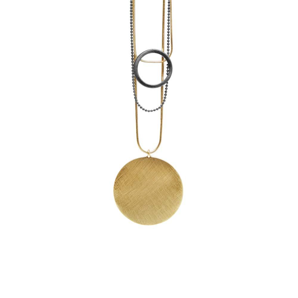Колье(9H344)Shanaya<br>Дания, Dansk Smykkekunst<br><br>Металл  покрытый золотом и серебром<br>Длина цепочки 90 см<br>