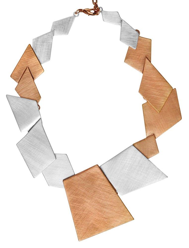 Колье(9H357)Summer<br>Дания, Dansk Smykkekunst<br><br>Гипоаллергенный сплав, покрытый розовым золотом, серебром<br>Длина колье 45 см<br>