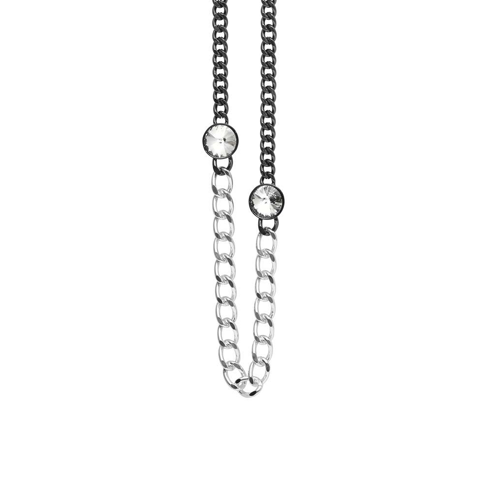 Колье(9H313)Stella<br>Дания, Dansk Smykkekunst<br><br>Гипоаллергенный сплав, покрытый  серебром<br><br><br>Длина колье 70 см<br>