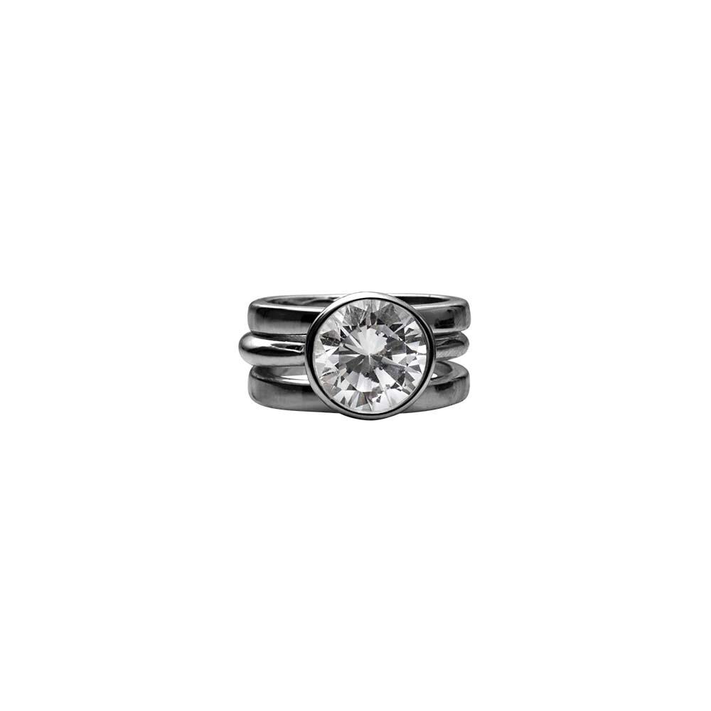 Кольцо(1H581)Stella<br>Дания, Dansk Smykkekunst<br><br>Гипоаллергенный сплав, покрытый гематитом<br>