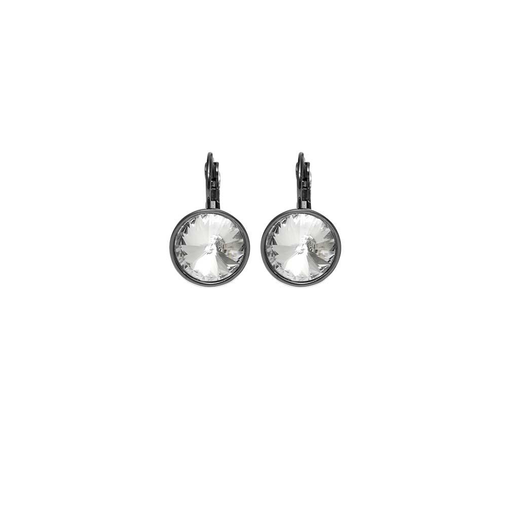 Серьги(3H916)Stella<br>Дания, Dansk Smykkekunst<br><br>Гипоаллергенный сплав, покрытый  серебром<br><br><br> Длина серег 2 cm, диаметр вставки 1,5 cm<br>