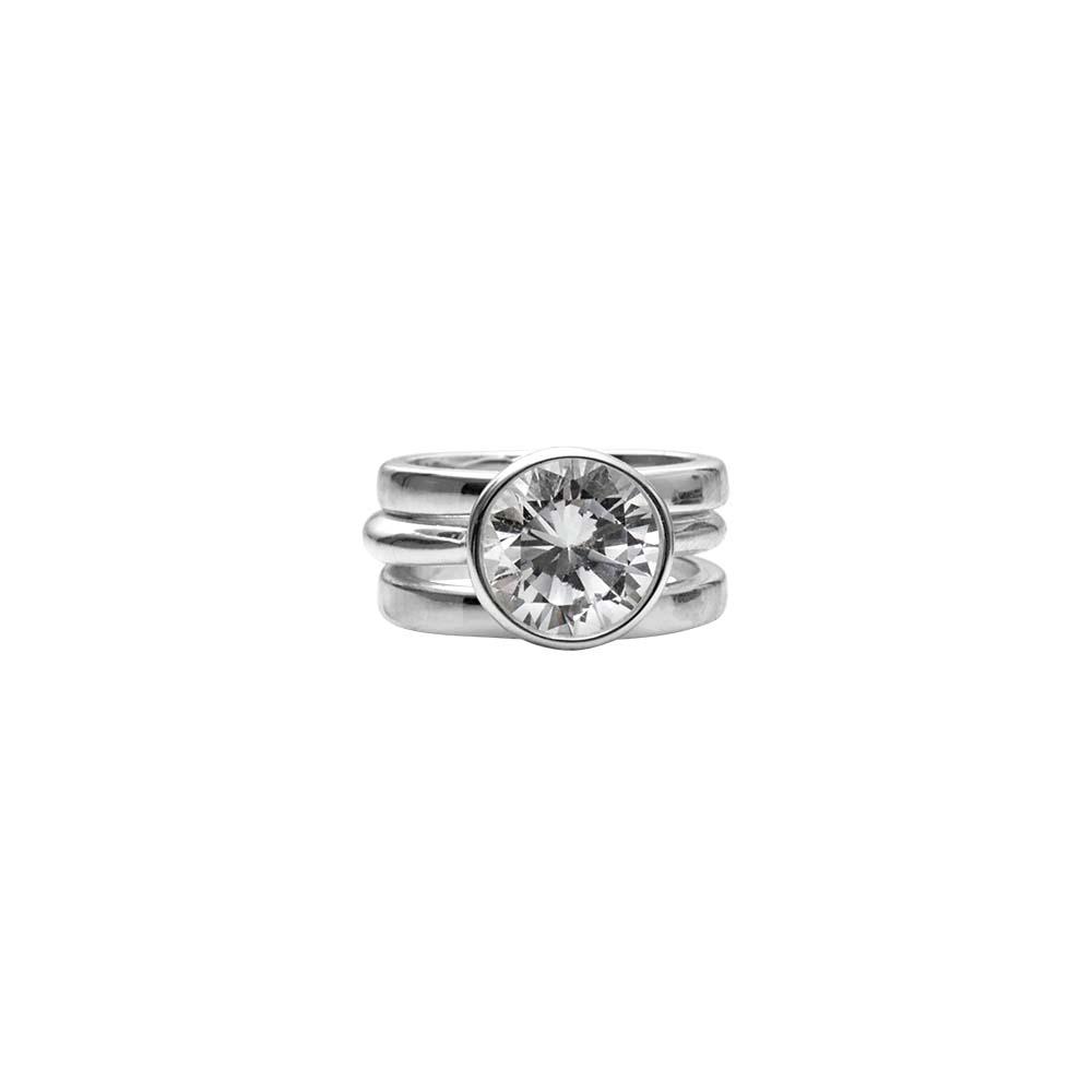 Кольцо(1H580)Stella<br>Дания, Dansk Smykkekunst<br><br>Гипоаллергенный сплав, покрытый  серебром<br>