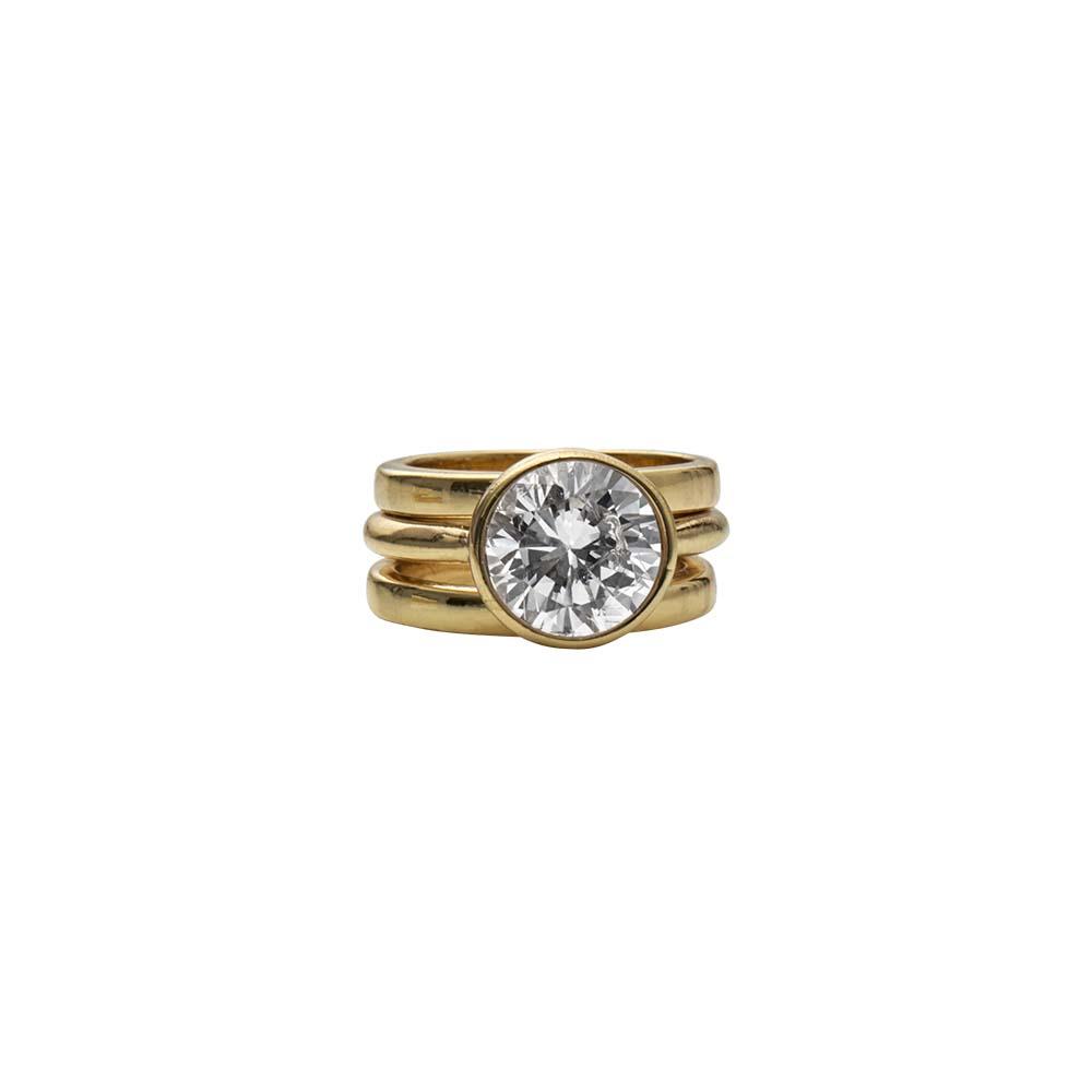 Кольцо(1H582)Stella<br>Дания, Dansk Smykkekunst<br><br>Гипоаллергенный сплав, покрытый золотом<br>