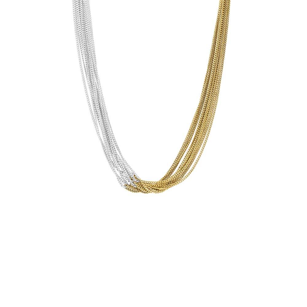 Колье(9H312)Signature by Malene<br>Дания, Dansk Smykkekunst<br><br>Гипоаллергенный сплав, покрытый серебром, золотом<br><br>Подарочная упаковка<br>