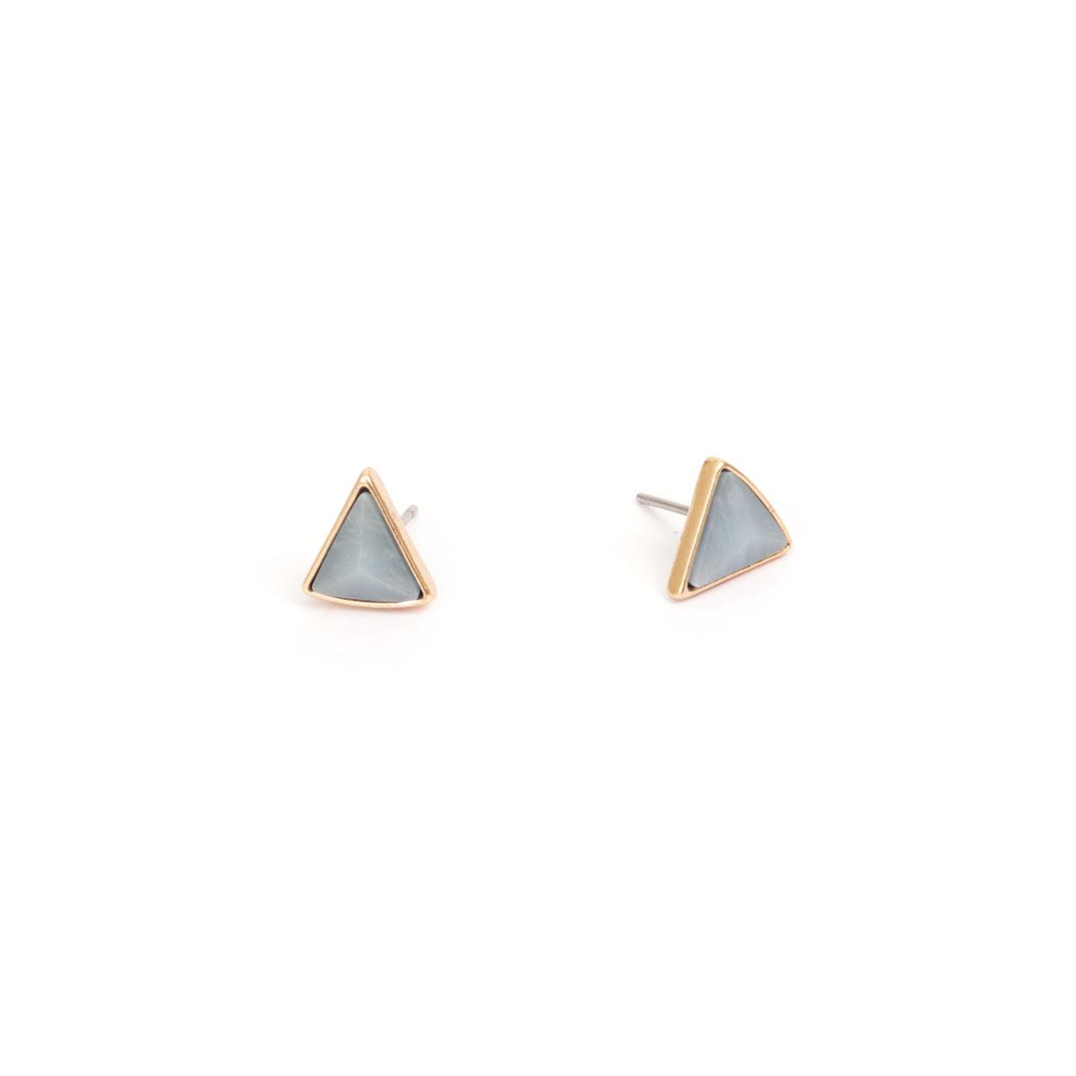 Серьги в форме треугольника(1018-0550)Summer vibes blue<br>Arts&amp;Crafts, Норвегия<br><br>Авторский дизайн, ручная работа, ограниченный выпуск.<br>