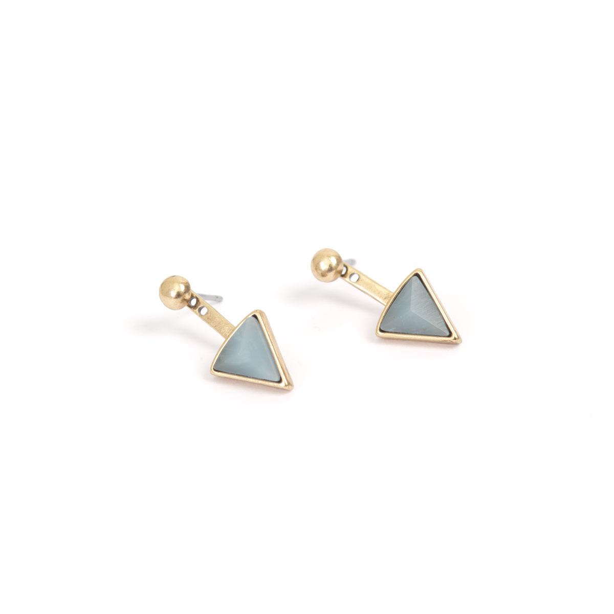 Серьги в форме треугольника(1018-0551)Summer vibes blue<br>Arts&amp;Crafts, Норвегия<br><br>Авторский дизайн, ручная работа, ограниченный выпуск.<br>