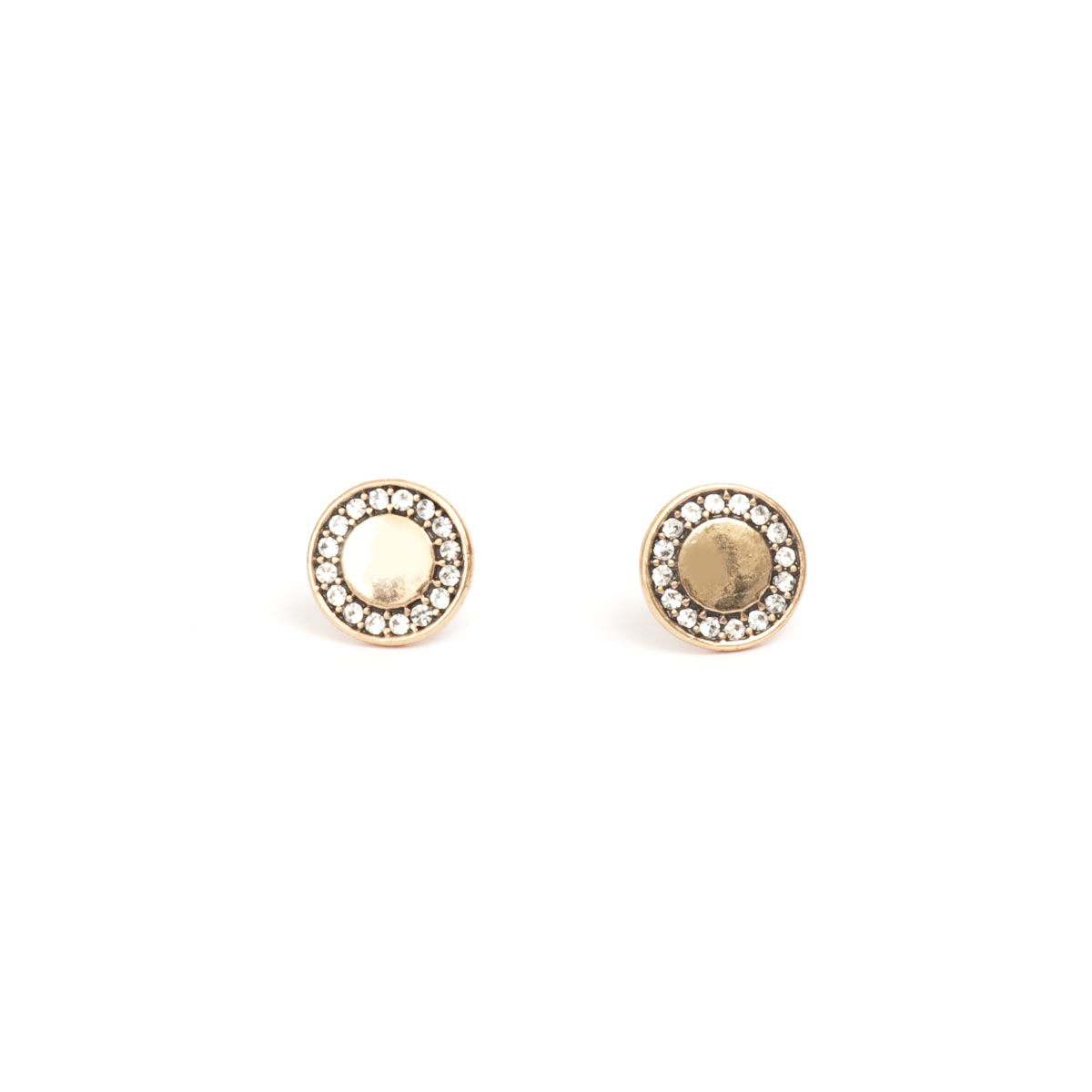 Серьги(1018-0590)Shiny Plated Basics<br>Размер вставки 10 мм<br>